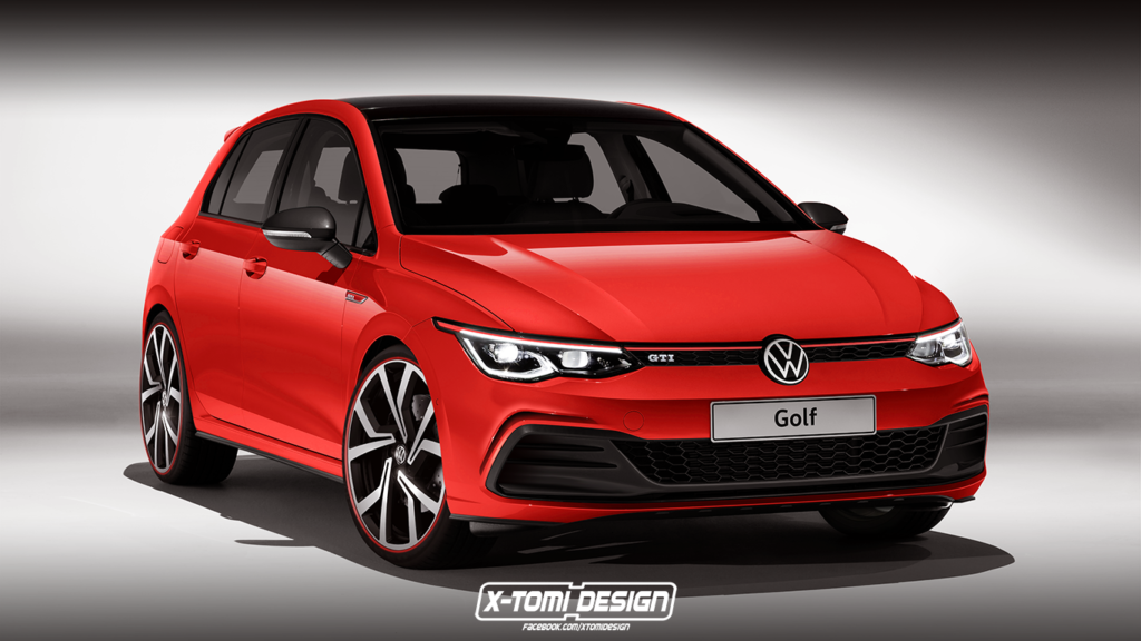 Volkswagen Golf 8 GTI Rendered