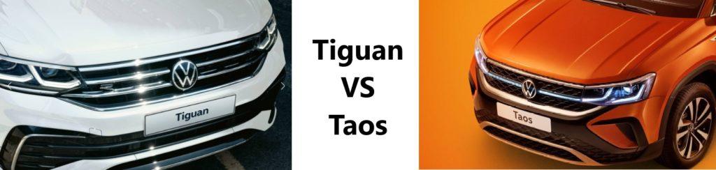 Sravneniye Volkswagen Taos 2021 i Volkswagen Tiguan